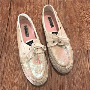 SPERRY top-sider sparkly sequin shoes sz 9